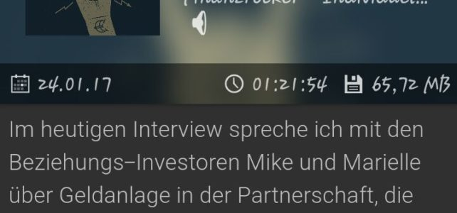 Beziehungs-Investoren on Tour: Unsere Podcast-Premiere beim Finanzrocker