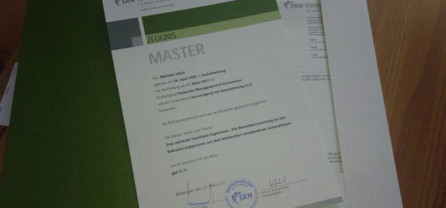 Ziele-Update: Master of Arts – Check!