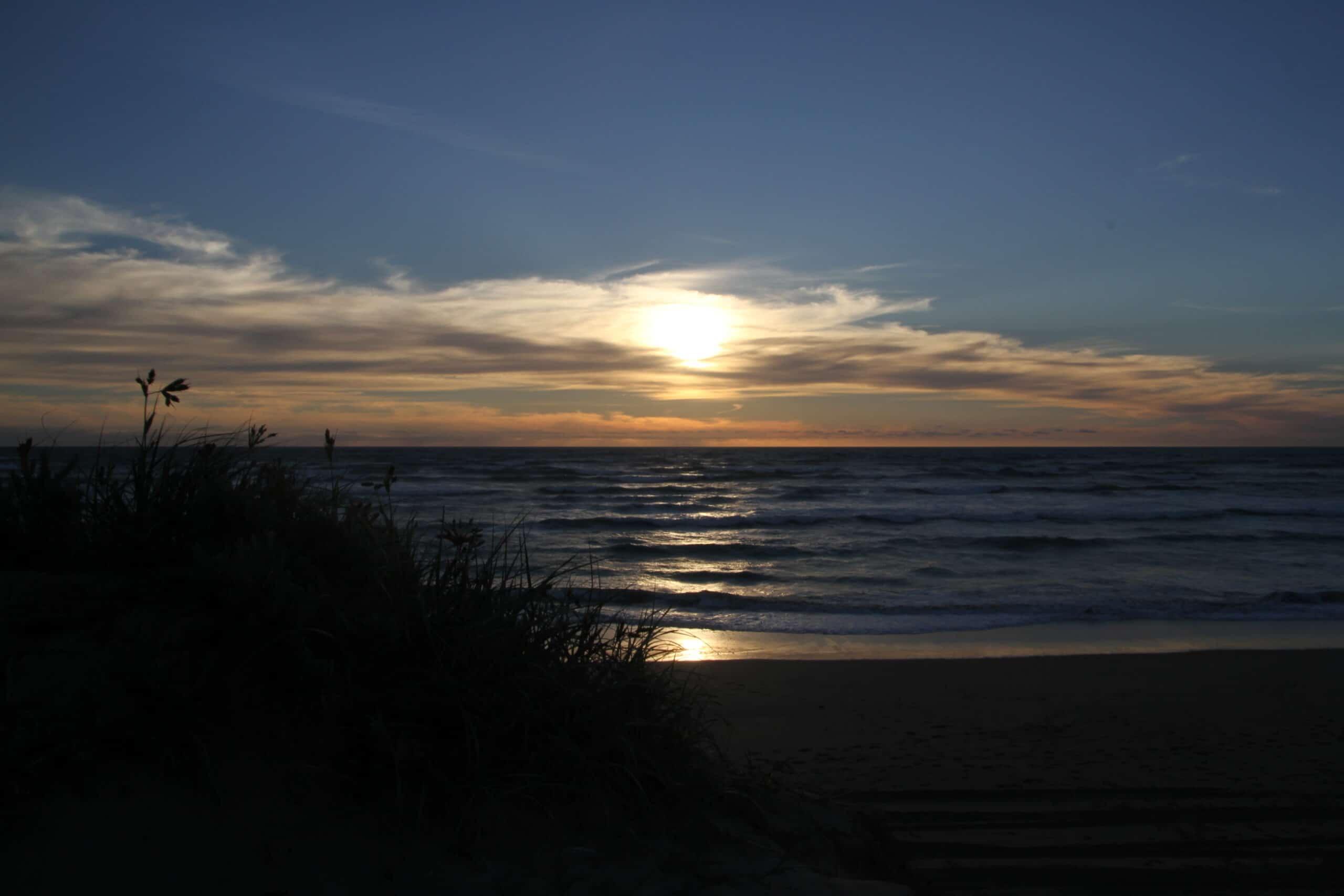 Gemeinsam reisen Sonnenuntergang