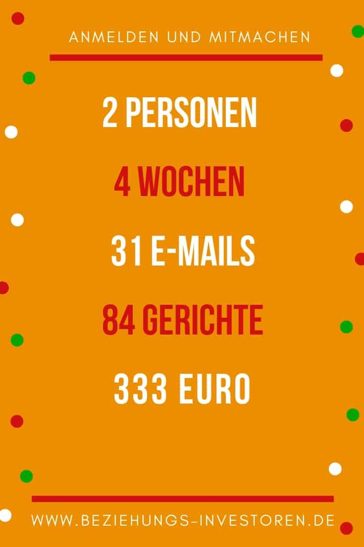 4 Wochen Essen unter 333 Euro
