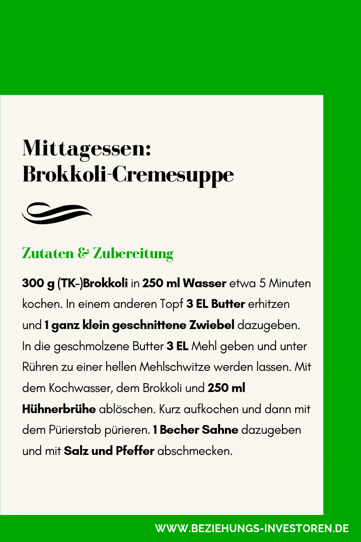 Gesunde Brokkoli-Suppe