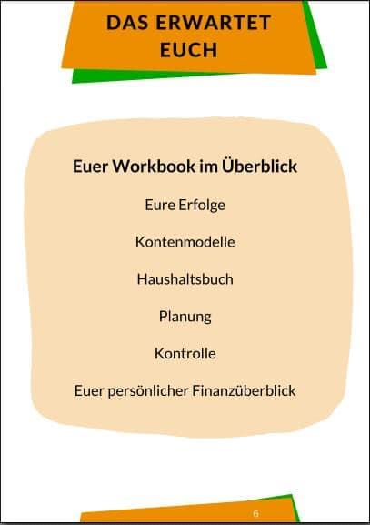 Inhalte des Workbooks
